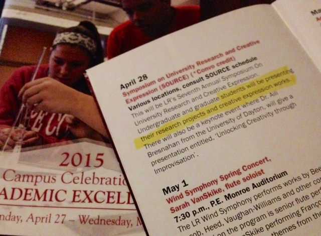 Booklet for the 2015 Campus Celebration of Academic Excellence