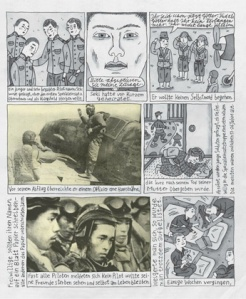 "Page two of Nora Krug's graphic story ""Kamikaze"""