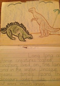 Early illustrated writing c. 1974