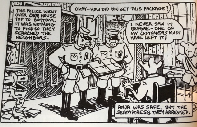 Panel from page 28 of Maus.